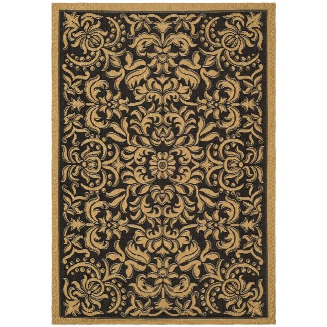 AT HOME by O Indoor/ Outdoor Black/ Natural Rug (6'7 x 9'6) at Sears.com