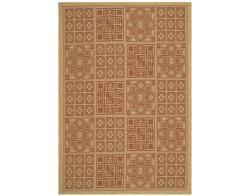 Safavieh Indoor/ Outdoor Natural/ Brick Red Rug (9' x 12')