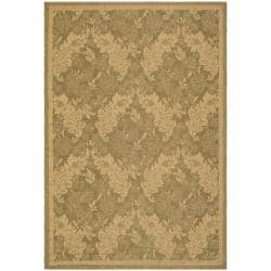 Indoor/Outdoor Gold/Natural Polypropylene Rug (9' x 12')