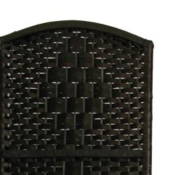 Wood and Woven Fiber 4-panel 6-foot Diamond Room Divider (China)