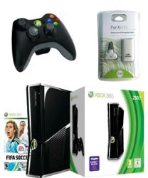 Xbox 360 Slim 250GB Console Wireless Controller Ultimate Bundle