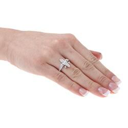 La Preciosa Sterling Silver Cubic Zirconia Fleur de Lis Ring
