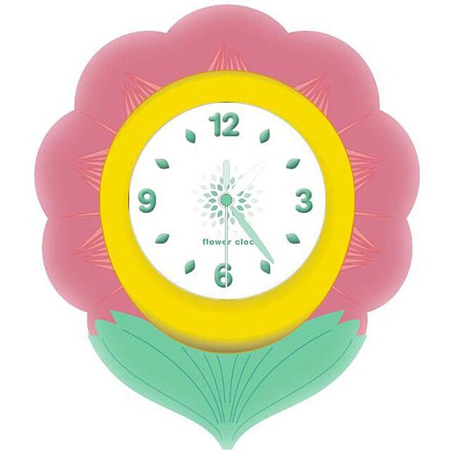 Flower Children's Night Light Clock