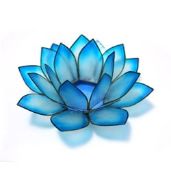 Capiz Shell Cool Water Lotus Tea Light (Philippines)