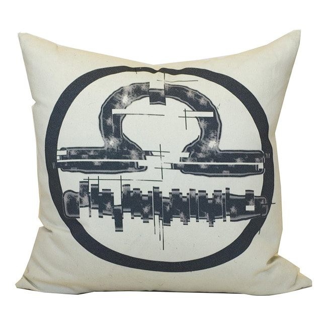Libra Zodiac Sign Cotton Decorative Pillow