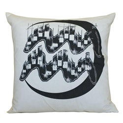 Jiti Aquarius Zodiac Sign Cotton Decorative Down Pillow