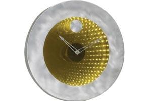 Jon Gilmore Designs Interstellar Silver 2-way Mirror Clock