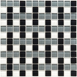 SomerTile 12x12-in View Basket 1-in Monochrome Glass Mosaic Tile (Case of 20)