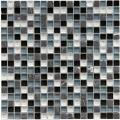 SomerTile 12x12-in Reflections Mini 5/8-in Charcoal Glass/Stone Mosaic Tile (Pack of 10)