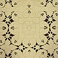 Millan 72x144-inch Rectangular Two-tone Vanilla Embroidered Tablecloth