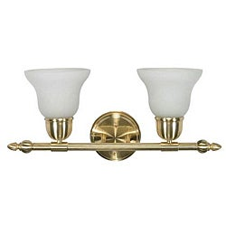 Indoor 2-light Brass Wall Sconce
