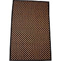 Asian Hand-woven Brown Checkered Bamboo Rug (1'8 x 2'7)