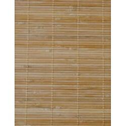 Asian Hand-woven Natural Bamboo Rug (1'8 x 2'8)