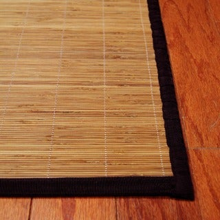 Asian Hand-woven Natural Bamboo Rug (1'8 x 2'8)