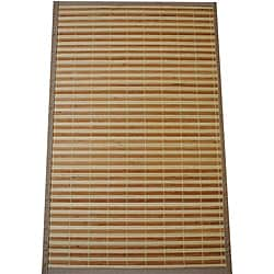 Asian Hand-woven Natural/ Beige Bamboo Rug (1'8 x 2'7)