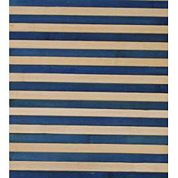 Asian Hand-woven Blue Striped Rayon from Bamboo Rug (2' x 3')