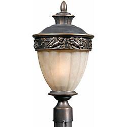 Cherub Outdoor 2-light Bronze Post Light