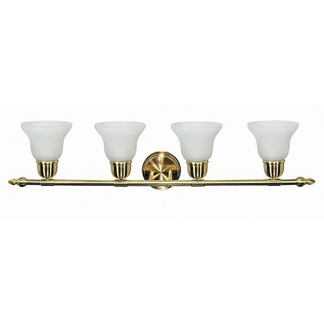 Indoor 4-light Brass Wall Sconce - 13364296 - Overstock.com Shopping - Top Rated Nuvo Lighting ...