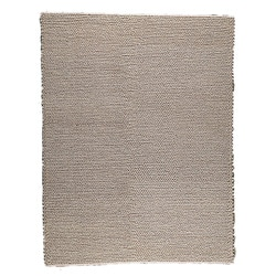 Hand-woven Ladh Beige Wool Rug (4'6 x 6'6)