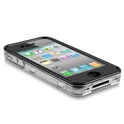 Clear with Black Trim Crystal Case for Apple iPhone 4