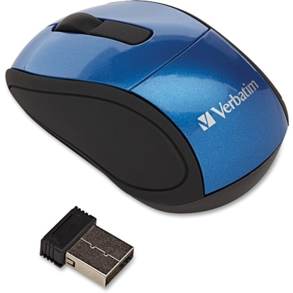 Verbatim Wireless Mini Travel Optical Mouse - Blue
