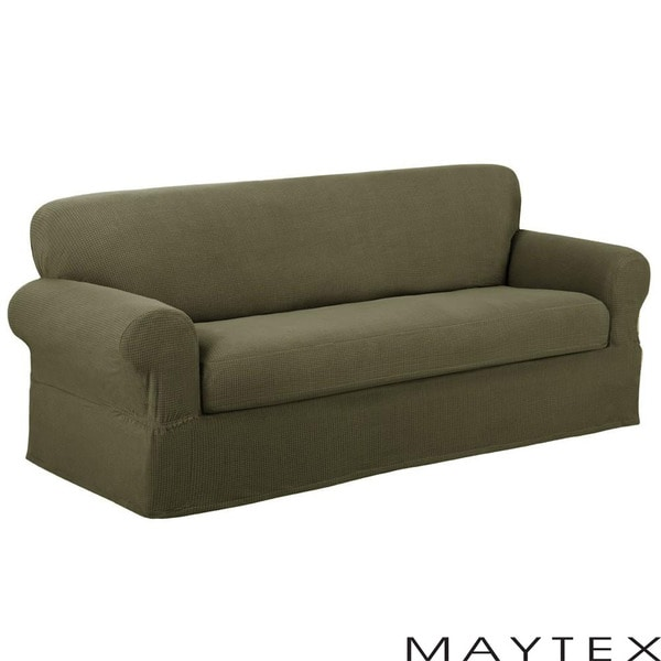 Reeves Textured 2-piece Loveseat Slipcover
