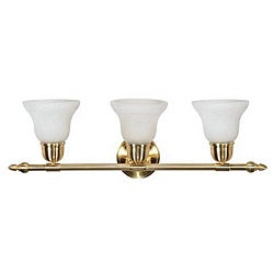 Energy Star 3-light Brass Lighting Sconce