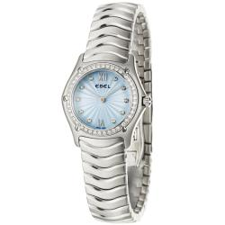 Ebel Classic Wave Women's Brushed-Stainless-Steel Quartz Diamond Watch