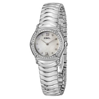 Ebel Classic Wave Women's Stainless-Steel Butterfly-Clasp Quartz Diamond Watch