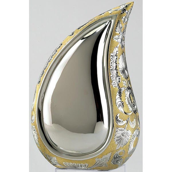Teardrop of Love Two-tone Adult Brass Urn