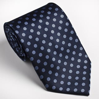 Platinum Ties Men's Blue 'Baby Dot' Tie