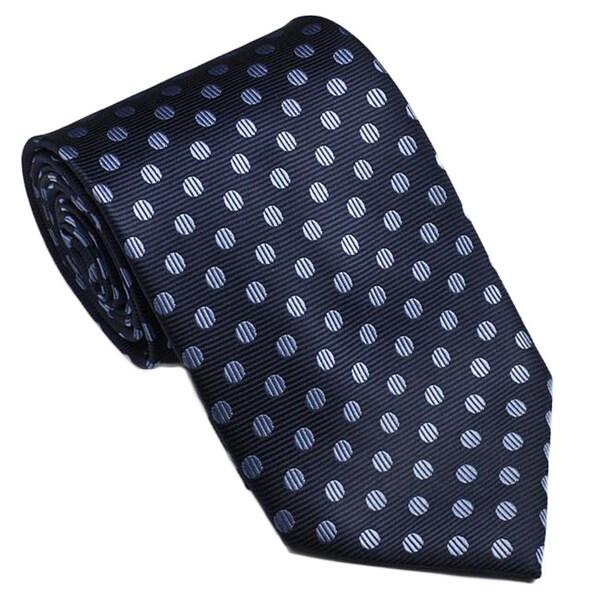 Platinum Ties Men's Blue 'Baby Dot' Tie