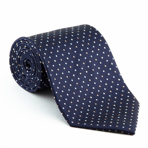 Platinum Ties Men's Patterned 'Blue Diplomat' Tie