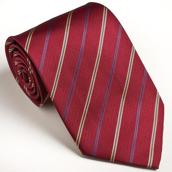 Platinum Ties Men's Striped Red 'Havard Finance' Tie