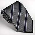 Platinum Ties Men&#39;s Striped &#39;Gray Cop&#39; Tie