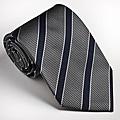 Platinum Ties Men's Striped 'Gray Cop' Tie