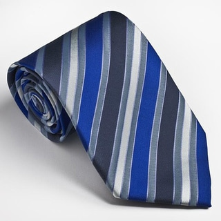Platinum Ties Men's Blue Striped Tie