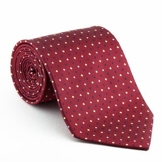 Platinum Ties Men's Patterned 'Red Diplomat' Tie
