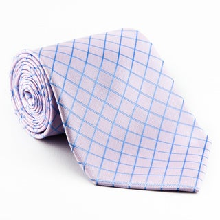 Platinum Ties Men's Patterned 'Snow Pink' Tie