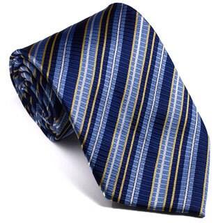 Platinum Ties Men's Striped 'Yellow Glow' Tie