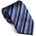 Platinum Ties Men's Striped 'Yellow Glow' Tie