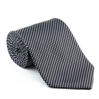 Platinum Ties Men's Patterned Black 'Midnight Runner' Tie