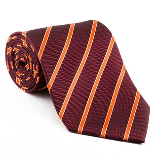 Platinum Ties Men's Orange Striped 'Pumpkin Slice' Tie