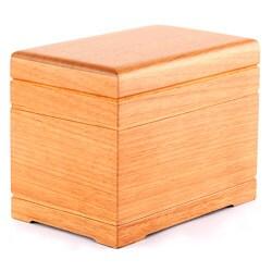 Celestial All-natural Oak Finish Wood Urn