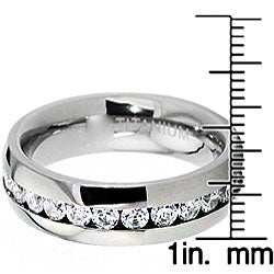 Men's Titanium Cubic Zirconia Eternity Band