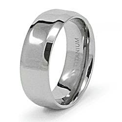Men's Titanium Beveled Edge High Polish Band (8 mm)