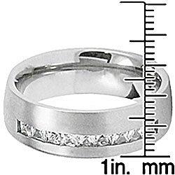 Men's Titanium Cubic Zirconia Ring