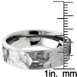Men's Titanium Hammered Ring