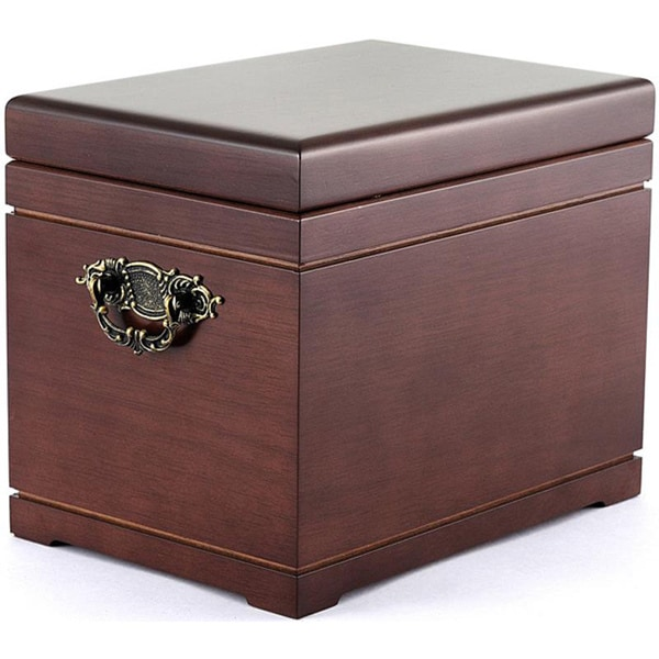 Deluxe All-natural Mahogany Urn and Chest