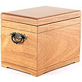 Deluxe All-natural Oak Finish Urn and Chest